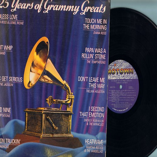 Martha & The Vandellas, Temptations, Dazz Band, others - 25 Years Of Grammy Greats: Endless Love, Heatwave, I Second That Emotion, Papa Was A Rolling Stone, Let It Whip (Vinyl LP record) - NM9/VG7 - LP Records