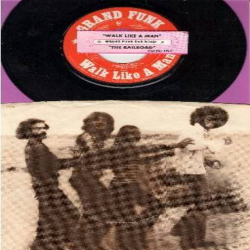 Grand Funk - Walk Like A Man/The Railroad (with RARE picture sleeve and juke box label) - M10/EX8 - 45 rpm Records