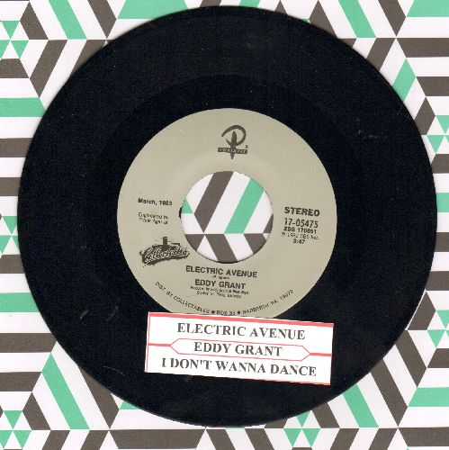 Grant, Eddy - Electric Avenue/I Don't Wanna Dance (double-hit re-issue with juke box label) - NM9/ - 45 rpm Records