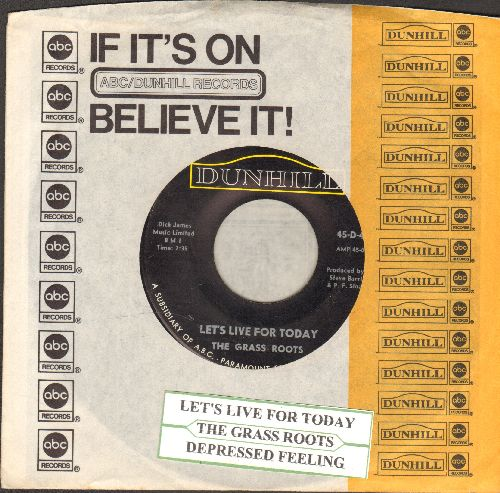 Grass Roots - Let's Live For Today/Depressed Feeling (withjuke box label and company sleeve) - EX8/ - 45 rpm Records