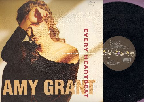 Grant, Amy - Every Heartbeat - 4 Different Extended Versions of the Hit on 12 inch vinyl Maxi Single with picture cover. - NM9/EX8 - Maxi Singles