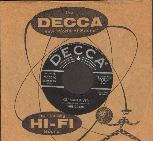Grant, Earl - Ol' Man River/Kathy-O (RARE vocal versions, with vintage Decca company sleeve) (ssol) - EX8/ - 45 rpm Records