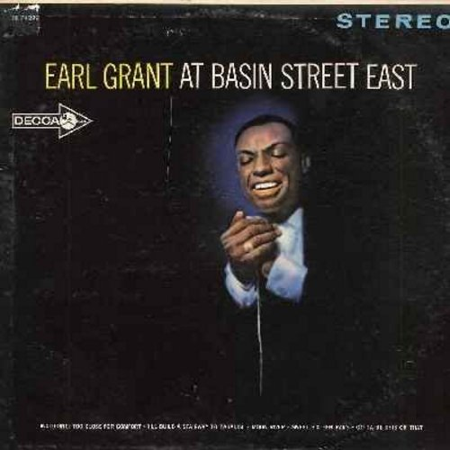Grant, Earl - Earl Grant At Basin Street East: Fever, Moon River, Hava Nagillah, Sweet Sixteen Bars, Learnin' The Blues, Too Close For Comfort (Vinyl STEREO LP record) - EX8/VG7 - LP Records