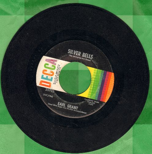 Grant, Earl - Silver Bells (Vocal version)/Jingle Bells (Instrumental) - VG7/ - 45 rpm Records