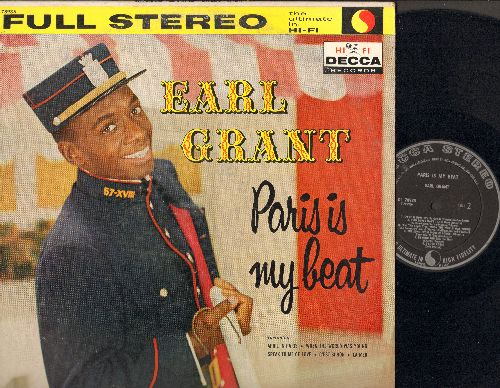 Grant, Earl - Paris Is My Beat: C'est Si Bon, I Love Paris, The Song From Moulin Rouge, Beyond The Sea (Vinyl STEREO LP record, factory error shows BOTH sides as B on labels (RARE FLUKE!) - EX8/EX8 - LP Records
