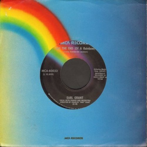Grant, Earl - The End (At The End Of A Rainbow There's A Pot Of Gold)/Ebb Tide (re-issue) - NM9/ - 45 rpm Records