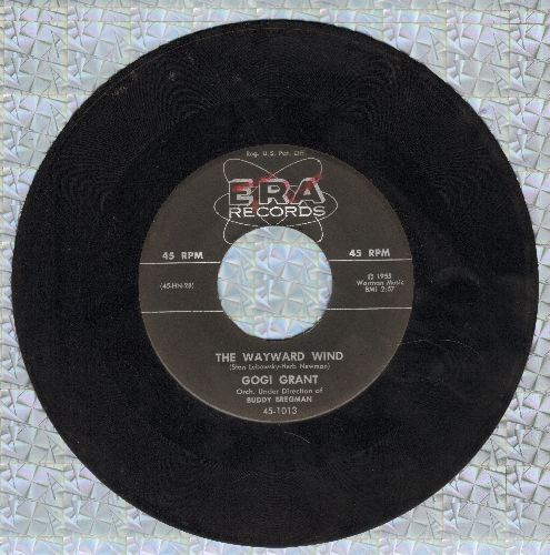 Grant, Gogi - The Wayward Wind/No More Than Forever (wol/sol) - G5/ - 45 rpm Records