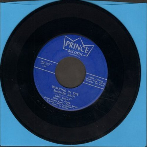 Grant, Earl - Walking In The Summer Rain/Moonlight In Vermont (rare vocal versions, authentic-looking re-issue of vintage recordings) - M10/ - 45 rpm Records