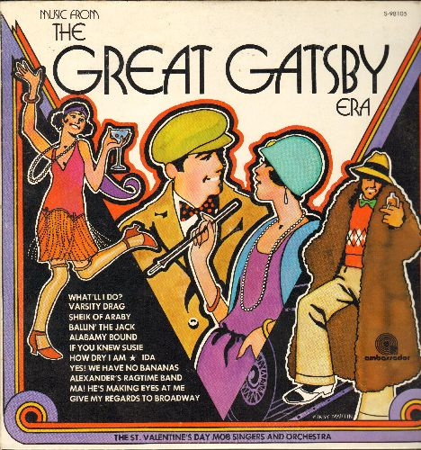 St. Valentine's Day Mob Orchestra & Chorus - Music From The Great Gatsby: Varsity Drag, Sheik Of Araby, Ballin' The Jack, If You Knew Susie, Yes! We Have No Bananas (Vinyl STEREO LP record) - NM9/NM9 - LP Records