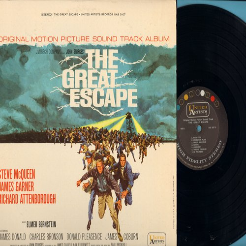 Bernstein, Elmer - The Great Escape - Original Motion Picture Sound Track (Vinyl STEREO LP record) - NM9/EX8 - LP Records