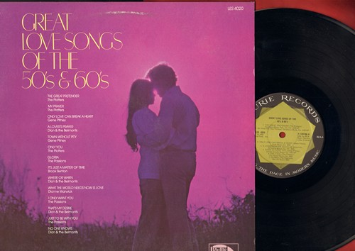 Platters, Gene Pitney, Dion & The Belmonts, others - Great Love Songs Of The 50s & 60s: The Great Pretenders, Town Without Pity, That's My Desire, Gloria - NM9/EX8 - LP Records