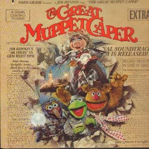 Great Muppet Caper - The Great Muppet Caper - Original Motion Picture Sound Track, includes the Love Theme -The First Time It Happens- by Miss Piggy & Kermit (Vinyl STEREO LP record) (sol) - EX8/EX8 - LP Records