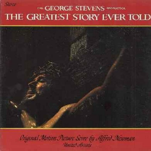 Newman, Alfred - The Greatest Story Ever Told - Original Motion Picture Sound Track featuring Music Score by Alfred Newman (vinyl STEREO LP record, gate-fold cover) - M10/EX8 - LP Records