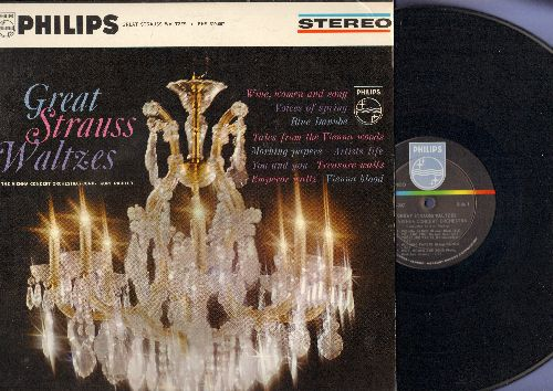 Vienna Concert Orchestra - Great Strauss Waltzes: Blue Danube, Tales Of The Vienna Woods, Emperor Waltz, Vienna Blood (Vinyl STEREO LP record) - NM9/NM9 - LP Records