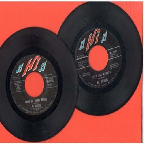 Green, Al - 2 for 1 Special: Tired Of Being Alone/Let's Get Married (2 vintage first issue 45rpm records for the price of 1!) - EX8/ - 45 rpm Records