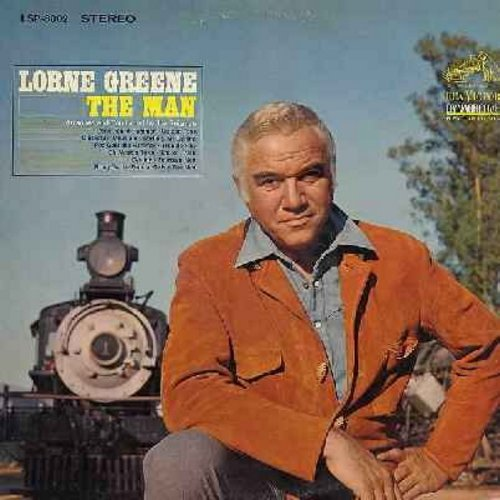 Greene, Lorne - The Man: Sixteen Tons, Nine Pound Hammer, Destiny, Bring On The Dancin' Girls, Fourteen Men (Vinyl STEREO LP record) - EX8/EX8 - LP Records