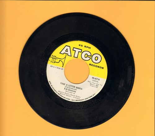 Greaves, R.B. - Take A Letter Maria (Definitive VEGAS SOUND!)/Big Bad City (bb) - EX8/ - 45 rpm Records