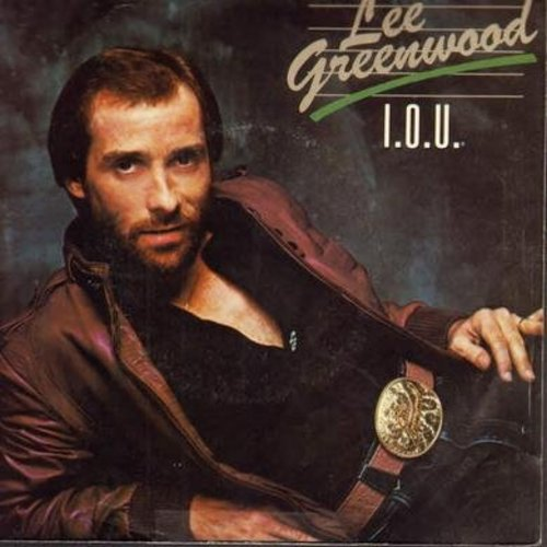 Greenwood, Lee - I.O.U./Another You (with picture sleeve) - NM9/EX8 - 45 rpm Records