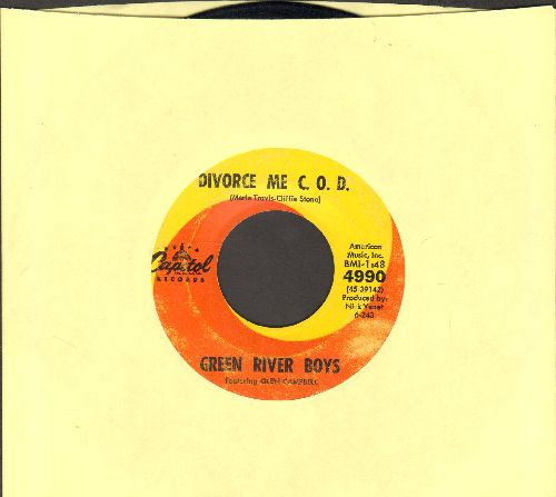 Green River Boys featuring Glen Campbell - Divorce Me C.O.D./Dark As A Dungeon - VG7/ - 45 rpm Records