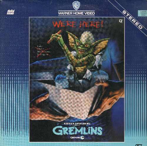 Gremlins - Gremlins - The Spielberg Halloween Favorite on LASER DISC! (This is a LASER DISC, not any other kind of media!) - NM9/EX8 - Laser Discs