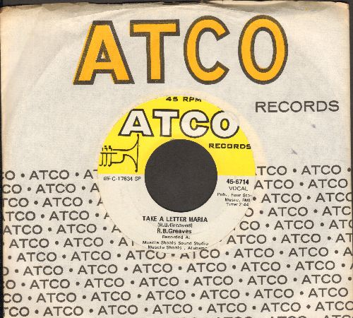 Greaves, R.B. - Take A Letter Maria (Definitive VEGAS SOUND!)/Big Bad City (MINT condition with Atco company sleeve) - M10/ - 45 rpm Records
