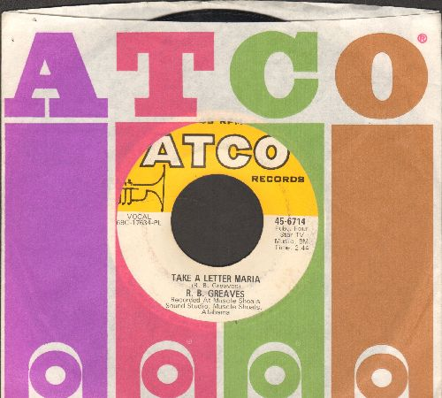 Greaves, R.B. - Take A Letter Maria (Definitive VEGAS SOUND!)/Big Bad City (with Atco company sleeve) - VG7/ - 45 rpm Records