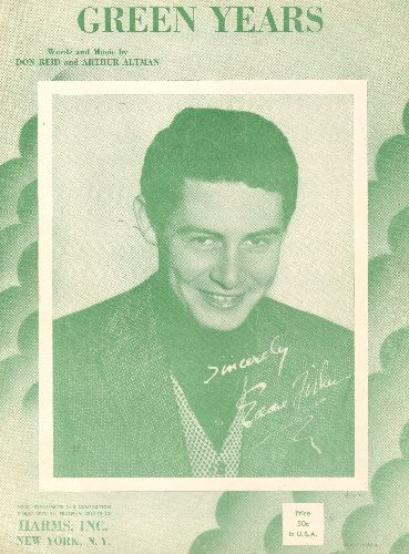 Fisher, Eddie - Green Years - Vintage SHEET MUSIC with beautiful cover portrait of Eddie Fisher! - NM9/ - Sheet Music