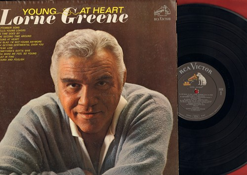 Greene, Lorne - Young At Heart: Septmeber Song, As Time Goes By, Something's Gotta Give, You Make Me Feel So Young, The Second Time Around (vinyl MONO LP record) - EX8/EX8 - LP Records