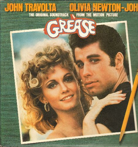 Travolta, John, Olivia Newton John, ShaNaNa, others - Grease - Original Motion Picture Soundtrack  (2 vinyl LP records, gate-fold cover) - NM9/EX8 - LP Records