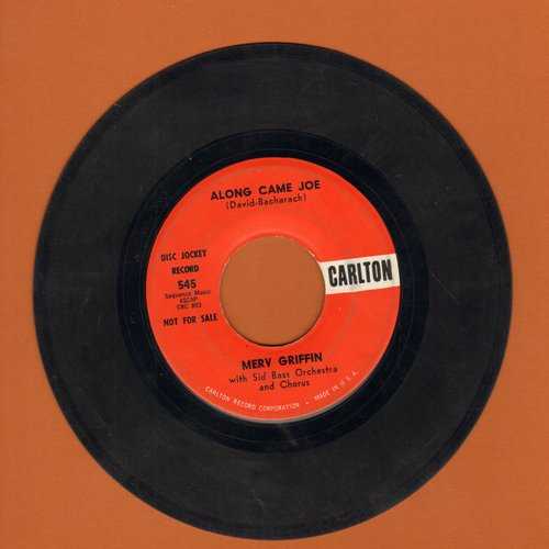 Griffin, Merv - Along Came Joe/The Charenga (DJ advance pressing) - EX8/ - 45 rpm Records