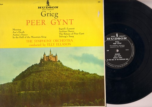 Symphony Orchestra conducted by Elly Ellason - Grieg - Peer Gynt - Complete Classical Suite by Edvard Grieg (vinyl LP record) - NM9/EX8 - LP Records