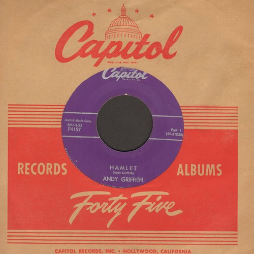 Griffith, Andy - Hamlet (Parts 1 + 2) (with vintage Captiol company sleeve) - VG7/ - 45 rpm Records