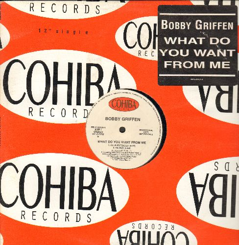 Griffen, Bobby - What Do You Want From Me (12 inch vinyl Maxi Single with 5 different Club Mixes, DJ advance pressing with Cohiba company cover) - EX8/ - Maxi Singles