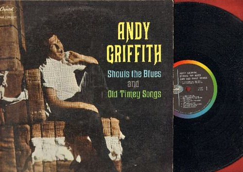 Griffith, Andy - Andy Griffith Shouts The Blues And Old Time Songs: Midnight Special, The House Of The Rising Sun, Little Maggie, Pick A Bale Of Cotton (vinyl LP record, RARE STEREO issue!) - EX8/EX8 - LP Records