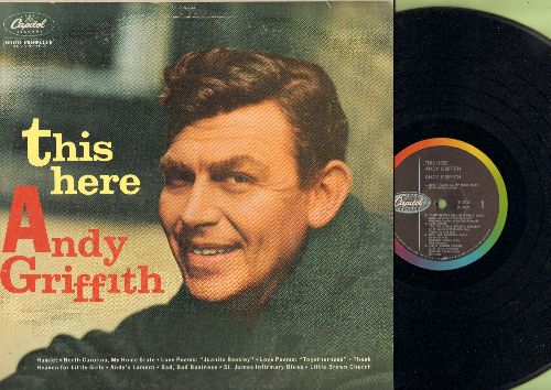 Griffith, Andy - This Here: North Carolina My Home State, Thank Heaven For Little Girls, Little Brown Church, Hamlet, Togetherness, To The Lovely Juanita Beasley, St. James Infirmary (Vinyl LP record, rainbow circle) - EX8/VG7 - LP Records