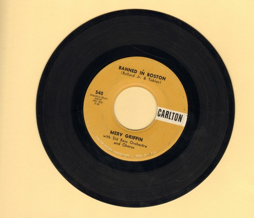 Griffin, Merv - Banned In Boston/The World We Love In  - VG7/ - 45 rpm Records