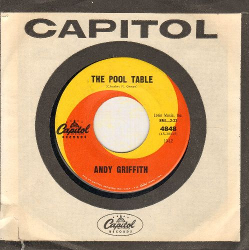 Griffith, Andy - The Pool Table/The Whistling Ping Pong Game (with vintage Capitol company sleeve) - EX8/ - 45 rpm Records