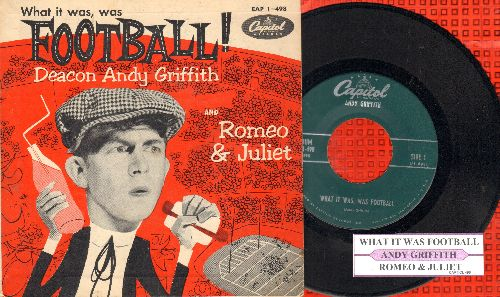 Griffith, Andy - What It Was, Was Football/Romeo & Juliet (Vinyl EP record with picture cover) - EX8/EX8 - 45 rpm Records