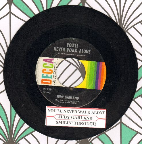 Garland, Judy - You'll Never Walk Alone/Smilin' Through (with juke box label) - VG7/ - 45 rpm Records
