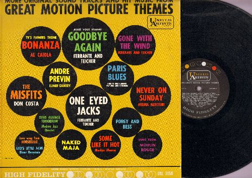 Monroe, Marilyn, Melina Mercouri, Ferrante & Tteicher, others - More Great Motion Picture Themes: I Wanna Be Loved By You, Never On Sunday, Gone With The Wind, Bonanza (Vinyl MONO LP record) - EX8/VG7 - LP Records