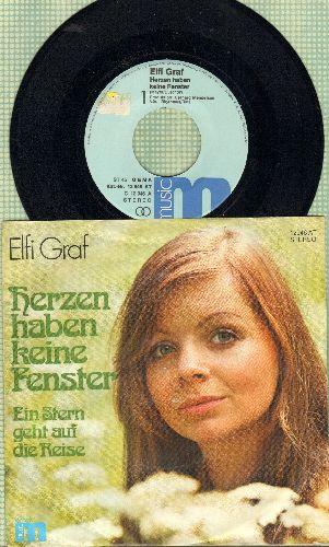 Graf, Elfi - Herzen haben keine Fenster/Ein Stern geht auf die Reise (German Pressing with picture sleeve, sung in German) - NM9/EX8 - 45 rpm Records