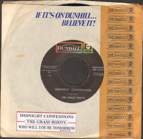 Grass Roots - Midnight Confessions/Who Will You Be Tomorrow (with juke box label and ABC company sleeve) - VG7/ - 45 rpm Records