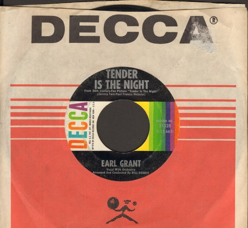 Grant, Earl - Tender Is The Night/Honey (with Decca company sleeve) - EX8/ - 45 rpm Records