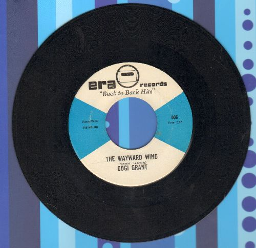 Grant, Gogi - The Wayward Wind/Suddenly There's A Valley (double-hit re-issue) - EX8/ - 45 rpm Records