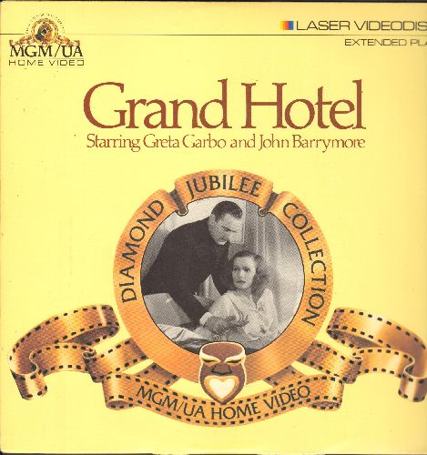 Grand Hotel - Grand Hotel - Diamond Jubilee Collection LASERDISC of the MGM Classic Starring Greta Garbo, John Barrymoore, Joan Crawford, Wallace Berry and Lionel Barrymore - NM9/EX8 - LaserDiscs