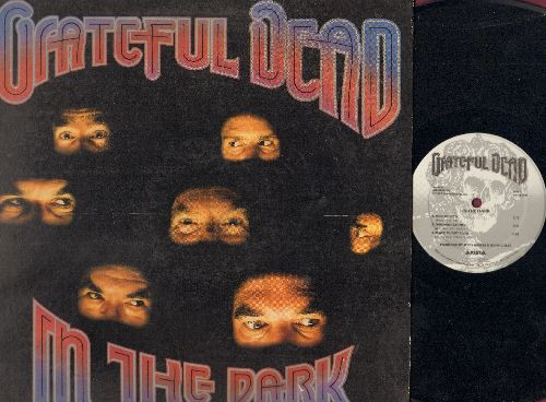 Grateful Dead - In The Dark: Touch Of Grey, Hell In The Bucket, When Push Comes To Shove, Black Muddy River (vinyl LP record, gatefold cover, inside fold cover is torn on bottom) - EX8/G5 - LP Records