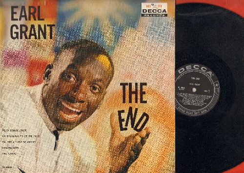 Grant, Earl - The End: Volare, Jamaica Farewell Song, I'm Just A Lucky So And So, Hello Young Lovers (Vinyl MONO LP record, RARE black label first issue) - EX8/EX8 - LP Records