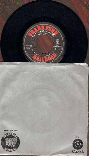 Grand Funk - Footstompin' Music/I Come Trumpin' (with picture sleeve) - EX8/VG7 - 45 rpm Records