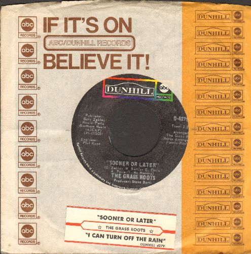 Grass Roots - Sooner Or Later/I Can Turn Off The Rain (with ABC company sleeve and juke box label) - NM9/ - 45 rpm Records