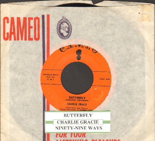 Gracie, Charlie - Butterfly/Ninety-Nine Ways (with RARE vintage Cameo company sleeve and juke bocx label) - NM9/ - 45 rpm Records